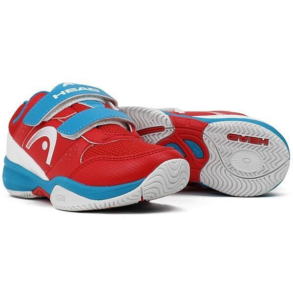 Детские теннисные кроссовки Head Junior Nzzzo Velcro red/malibu blue