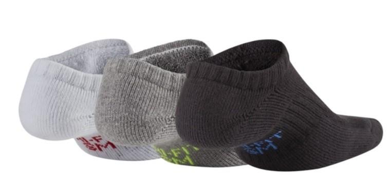 Носки детские Nike Dry Cushion No Show Junior 3-pack/white/grey/black
