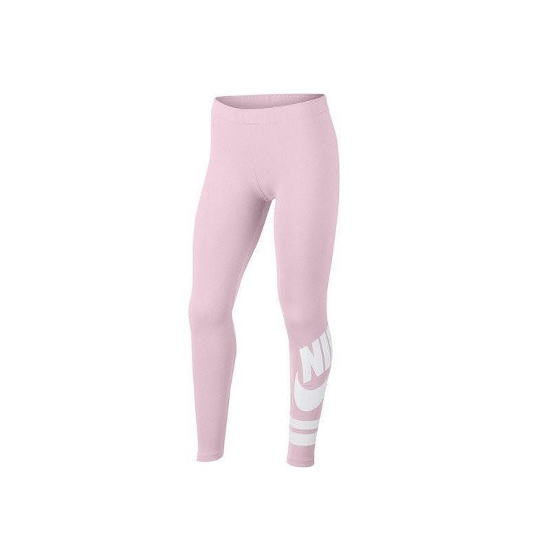 Легинсы детские Nike Sportswear Girl's Leggings pink foam/bianco