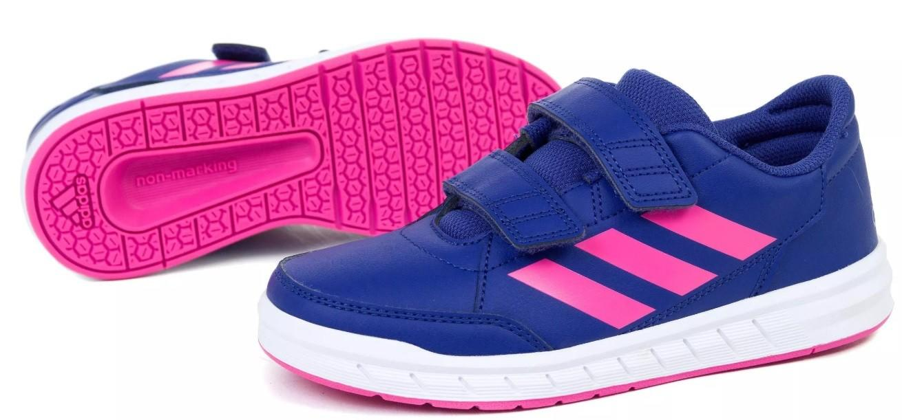 Детские теннисные кроссовки adidas AtlaSport Junior active blue/solar pink/white