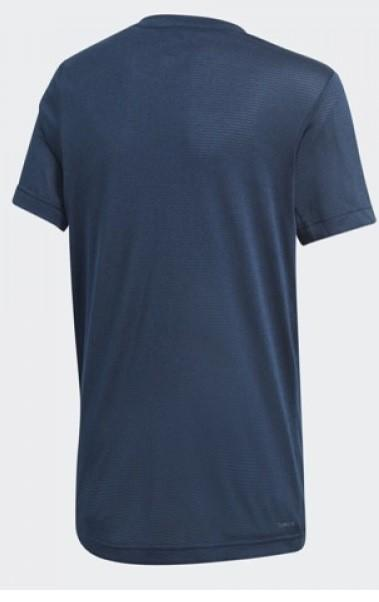 Теннисная футболка детская Adidas Textured Tee dark blue