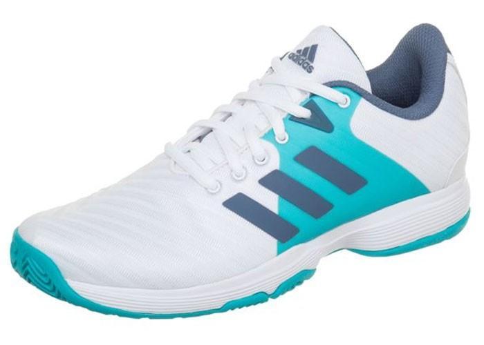 Теннисные кроссовки женские Adidas Barricade Court W white/blue
