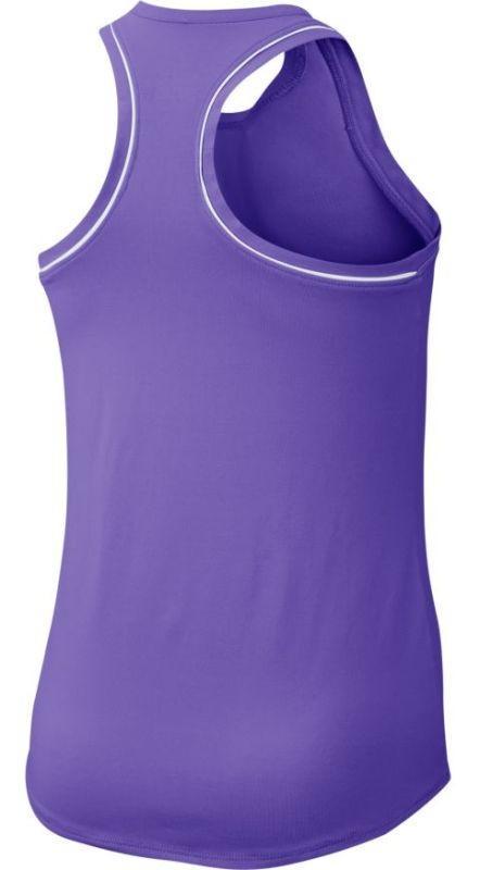 Теннисная майка детская Nike Court Girls Dry Tank psychic purple/white/white/white