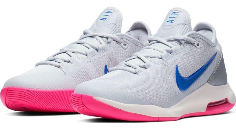 Теннисные кроссовки женские Nike WMNS Air Max Wildcard pure platinum/racer blue