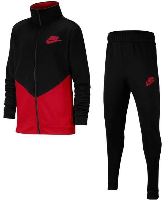 Спортивный костюм детский Nike Sportswear Tracksuit black/university red
