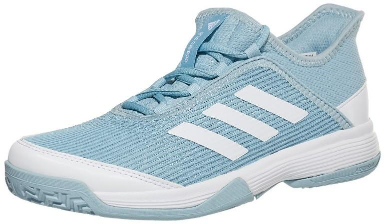 Детские теннисные кроссовки adidas Adizero Club Junior ash grey/white