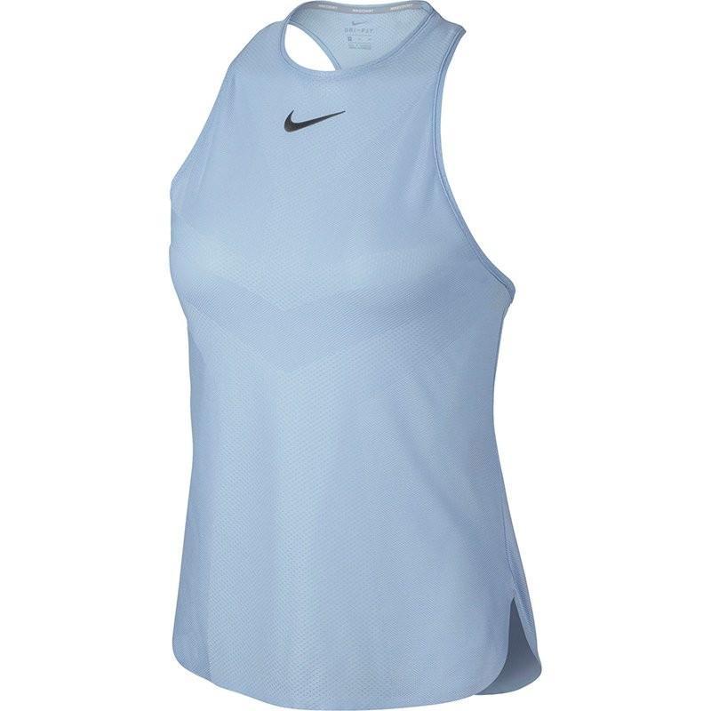 Теннисная майка женская Nike Court Dry Premier Slam Tank light blue