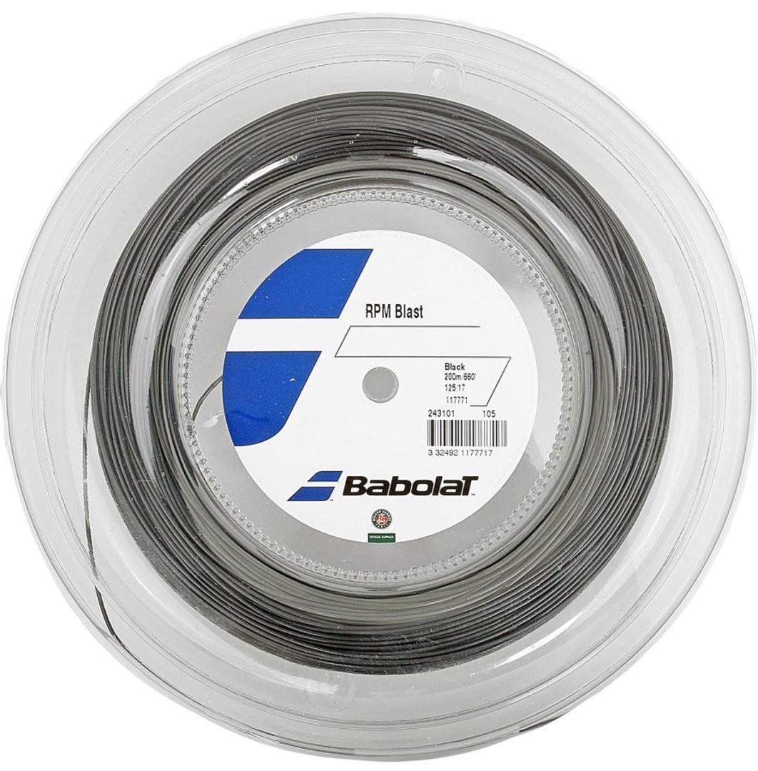 Струна Babolat RPM Blast black 12 m натяжка с бобины