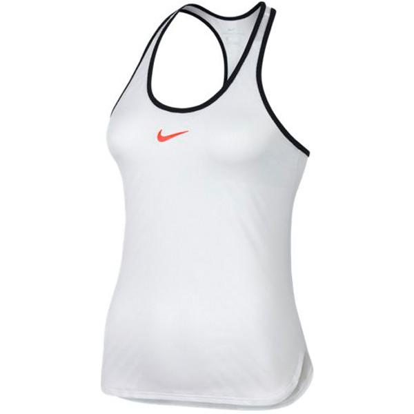 Теннисная майка женская Nike Court Womens Slam Tank Premier white/black/hyper