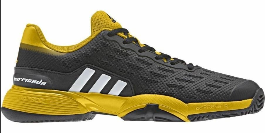 Детские теннисные кроссовки adidas Junior Barricade black/white/yellow