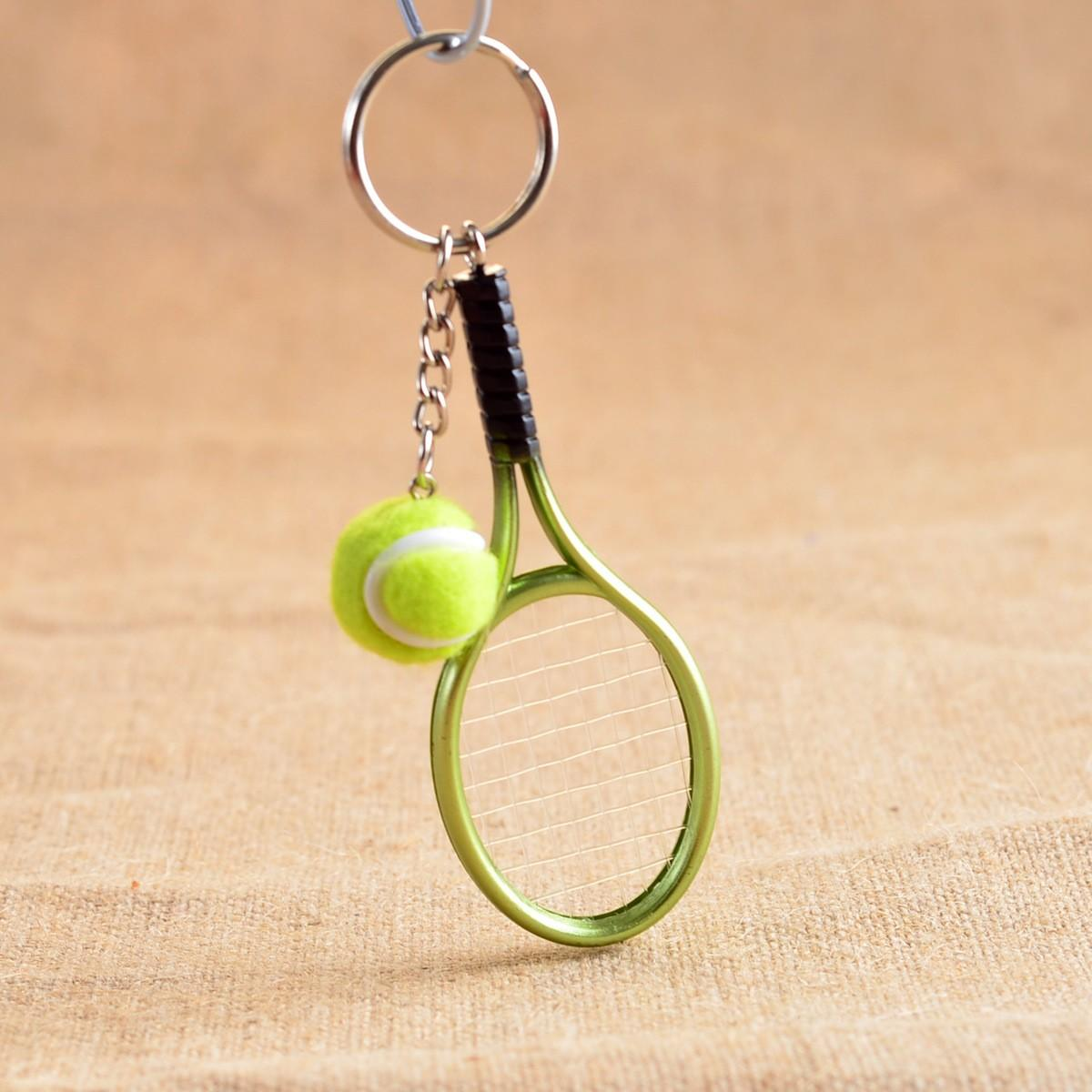 Брелок Mini Tennis Racket Key Buckle yellow