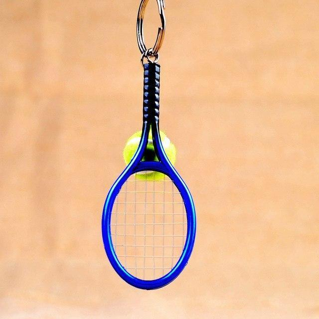 Брелок Mini Tennis Racket Key Buckle blue