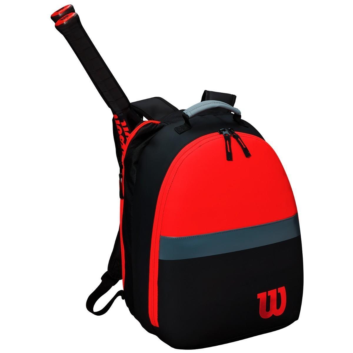 Теннисный рюкзак детский Wilson Clash Backpack black/red