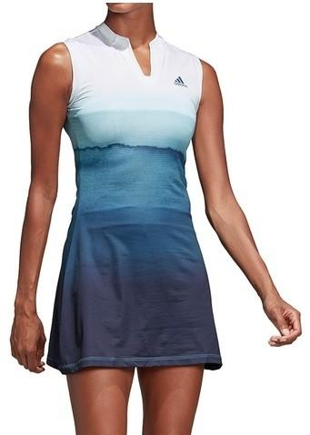 Теннисное платье женское Adidas Parley Women's Dress white/dark blue