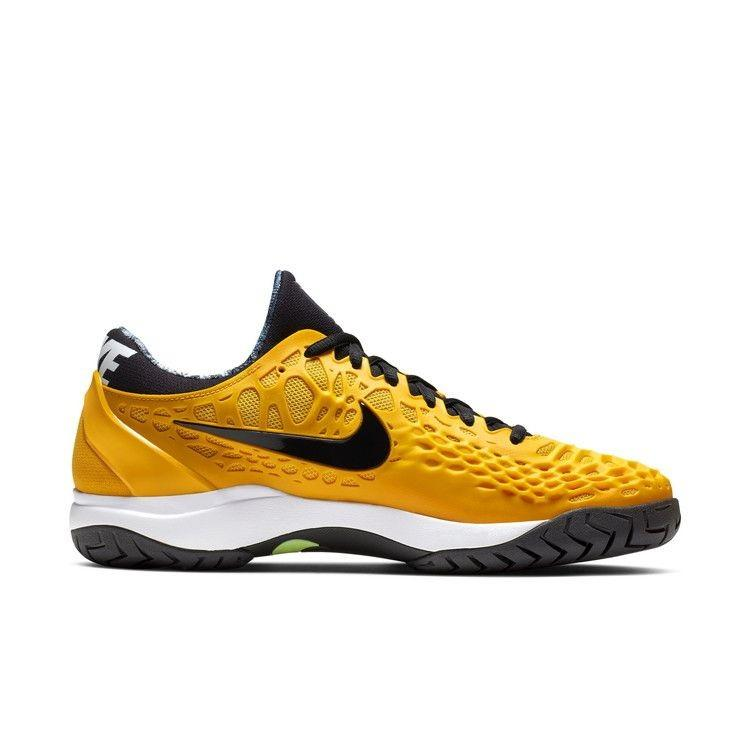 Теннисные кроссовки мужские Nike Air Zoom Cage 3 HC university gold/black/white/volt glow