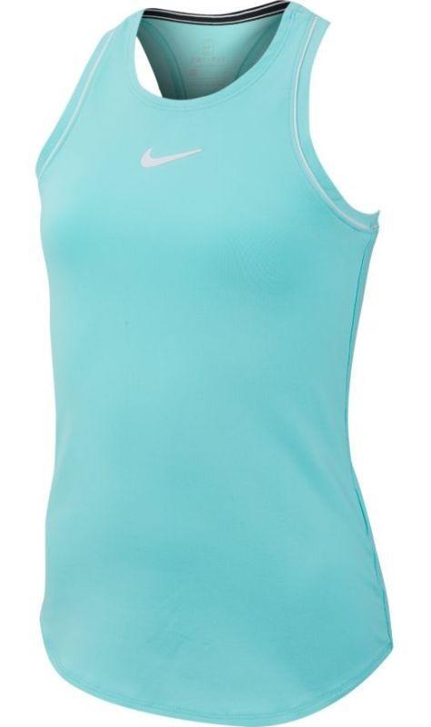 Теннисная майка детская Nike Court Girls Dry Tank light aqua/white/white/white