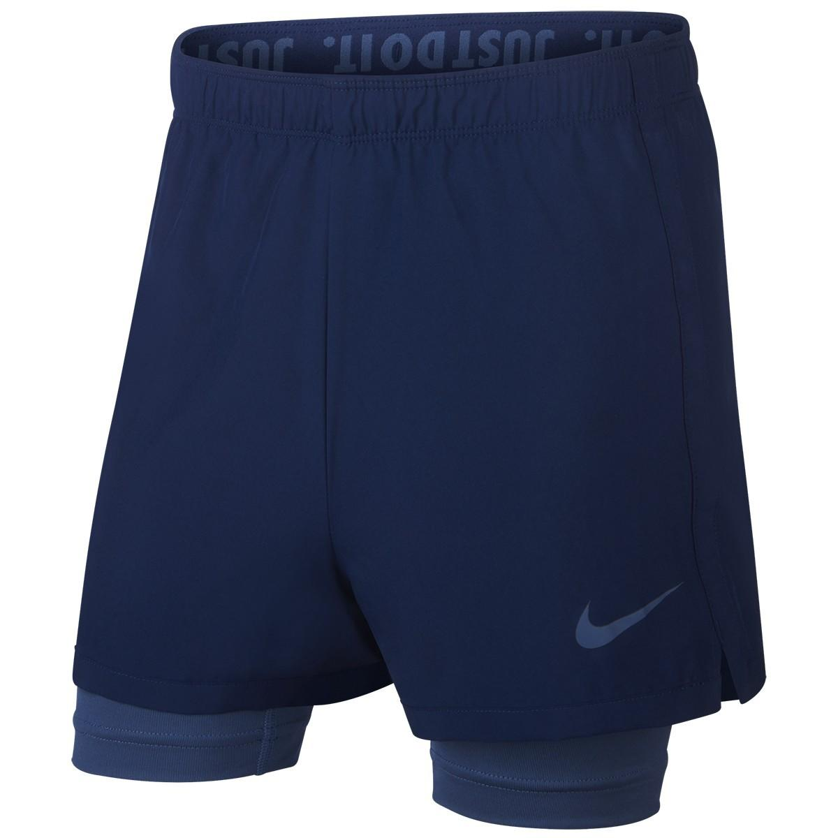 Теннисные шорты детские Nike Dry 2in1 Short Girls blue void/mystic navy