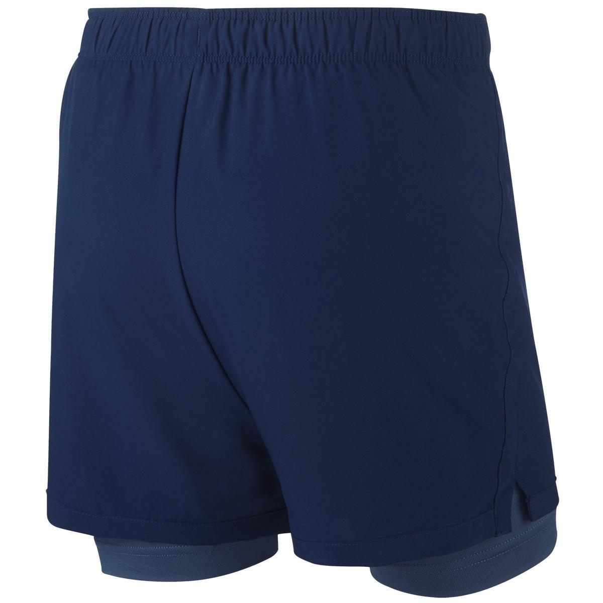 Теннисные шорты детские Nike Dry 2in1 Short Girls blue void/mystic navy