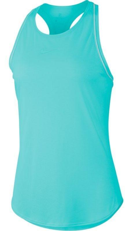 Теннисная майка женская Nike Court Dry Tank light aqua/white/white/light aqua