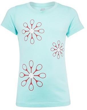 Теннисная футболка детская Wilson Girl's Spring Floret Tech Top island paradise