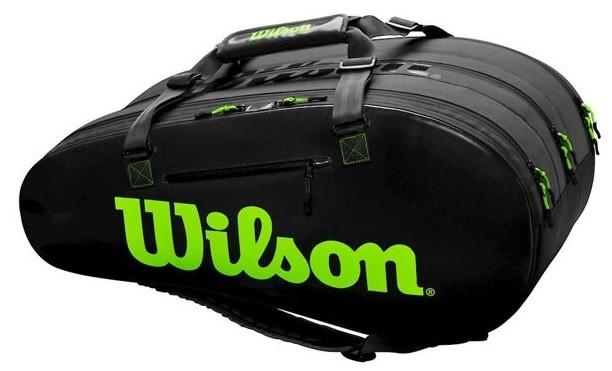 Теннисная сумка Wilson Super Tour 3 Comp 15 Pk black/green