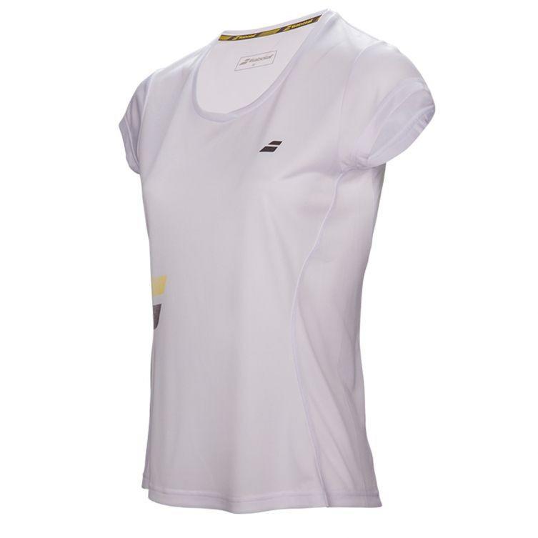 Теннисная футболка детская Babolat Core Flag Club Tee Girl white