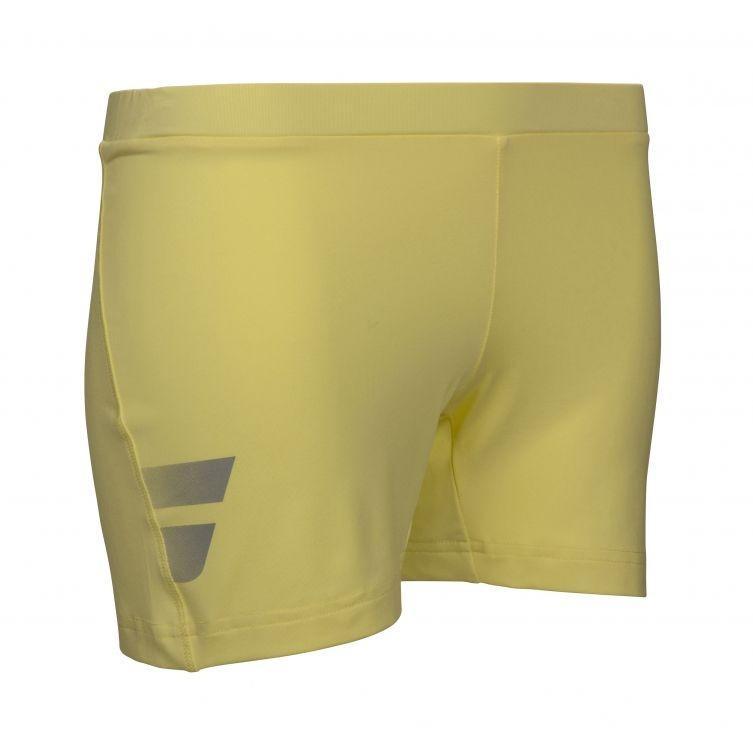 Теннисные шорты женские Babolat Core Shorty Women lime washed под платье