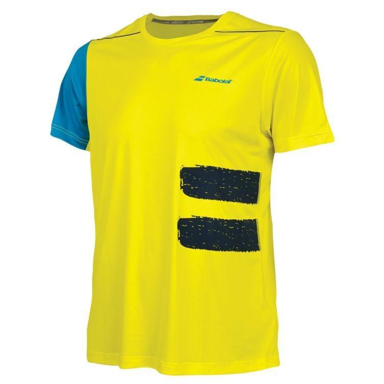 Теннисная футболка мужская Babolat Perf Crew Neck Tee Men blazing yellow
