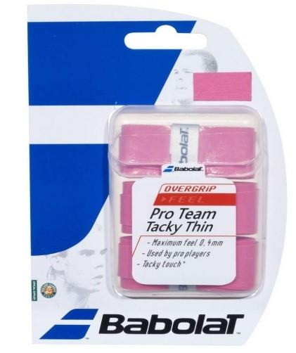 Намотка Babolat Pro Team Tacky Thin (3 шт.) pink