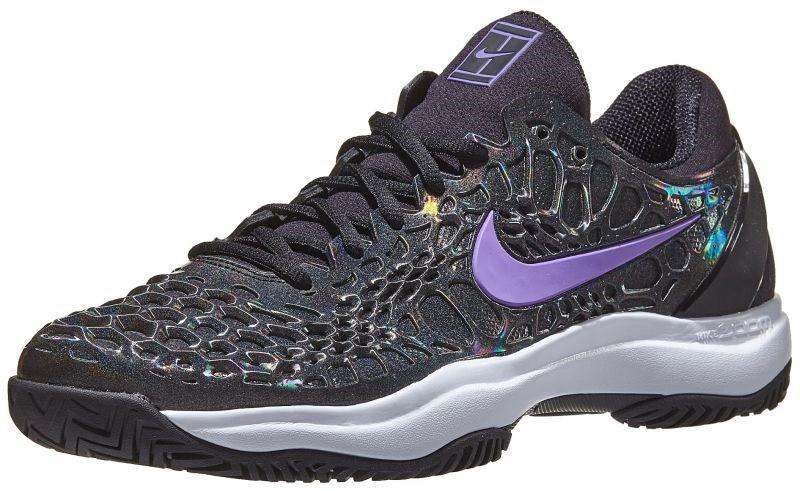 Теннисные кроссовки мужские Nike Zoom Cage 3 SLK black/bright violet/multi-color