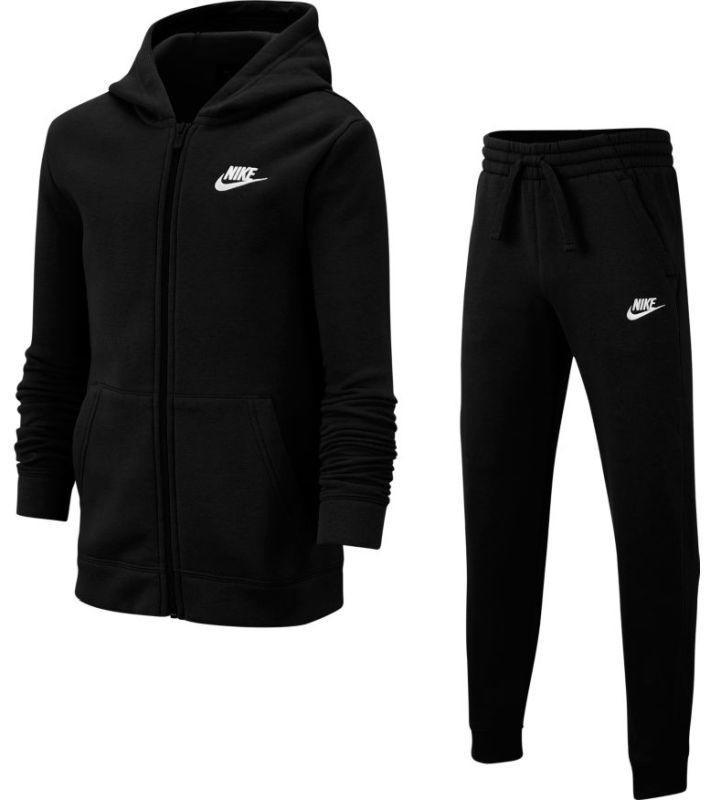 Спортивный костюм детский Nike Boys NSW Track Suit BF Core black/black/black/white