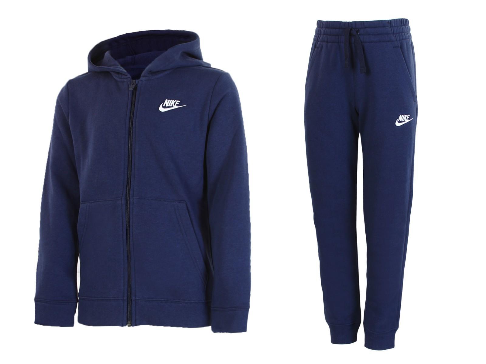 Спортивный костюм детский Nike Boys NSW Track Suit BF Core blue/white