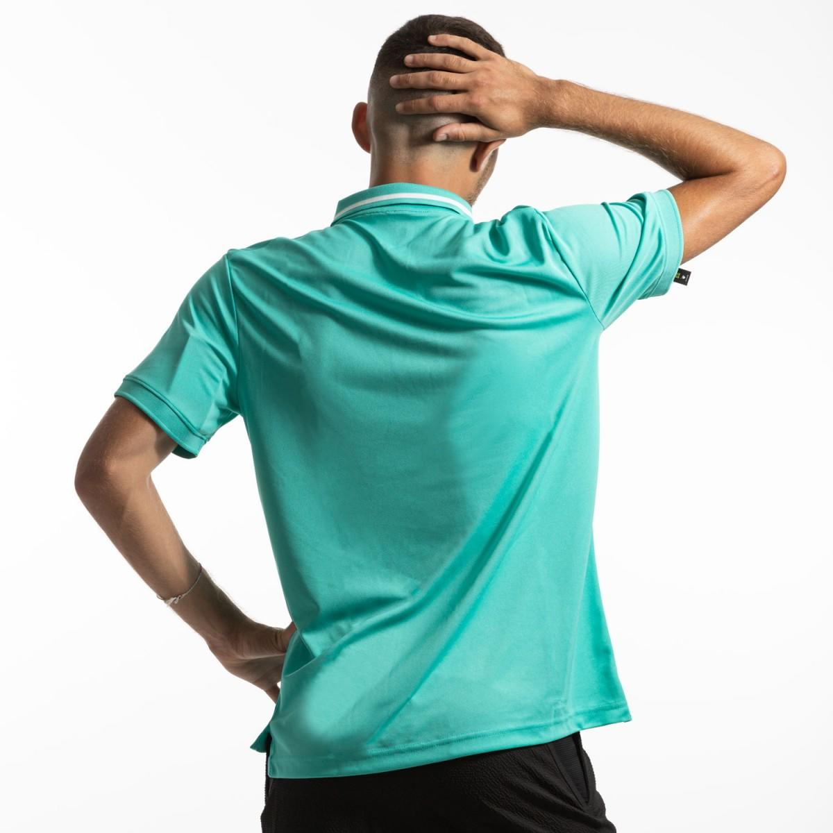Теннисная футболка мужская Nike Court Dry Pique Polo hyper jade/white/hyper jade