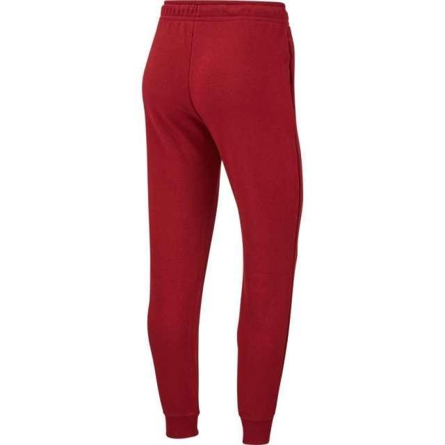 Штаны женские Nike Sportswear Essential Trackpants bordeaux/white