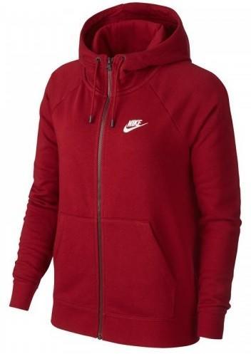 Реглан женский Nike Essential HOODIE FZ FLC bordeaux/white