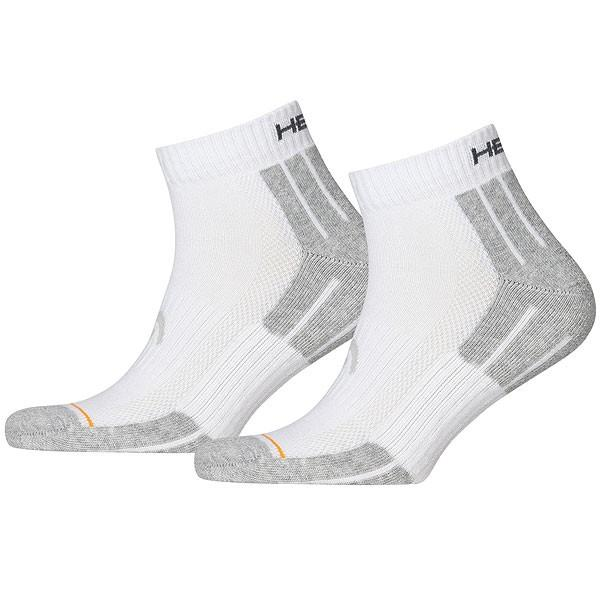 Head Performance Quarter 2-pack/grey/white