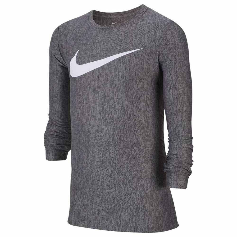 Теннисная футболка детская Nike Boys Long Sleeve Training Top black