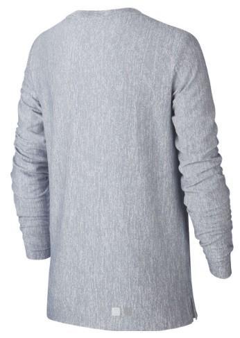 Теннисная футболка детская Nike Boys Long Sleeve Training Top grey/white
