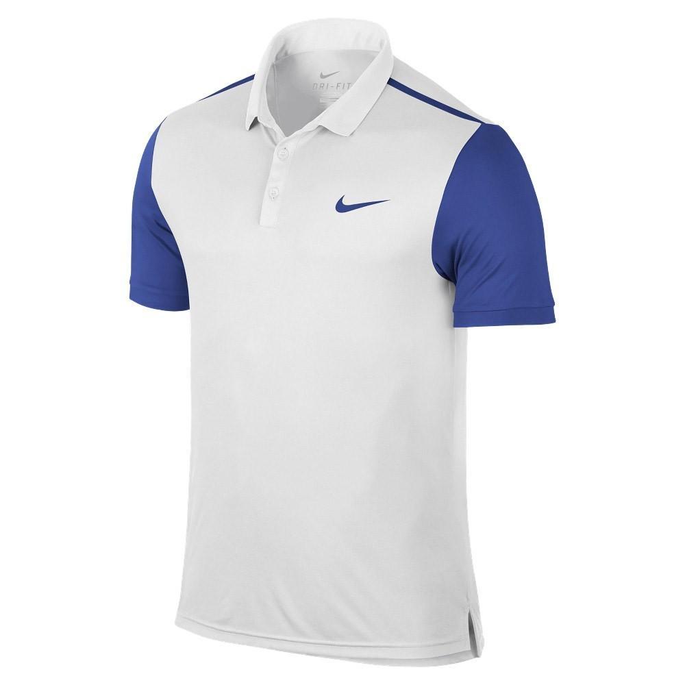 Теннисная футболка мужская Nike Advantage Polo white/game royal поло