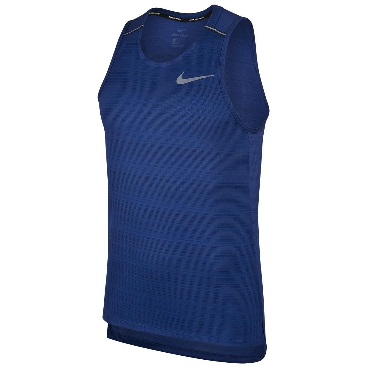 Спортивна майка чоловіча Nike Miler Tank Top indigo force/grey