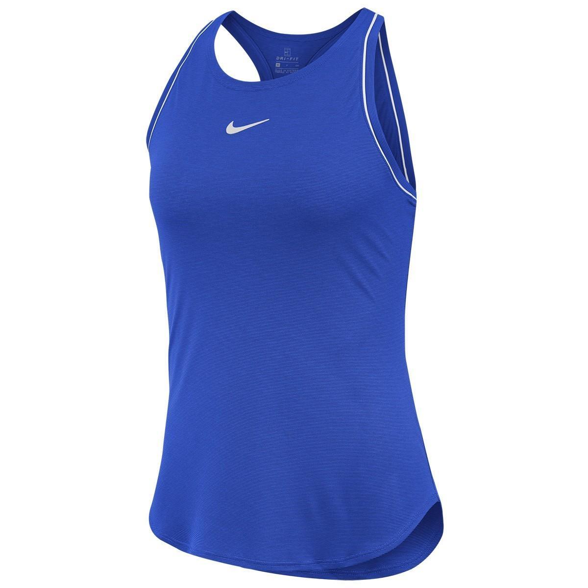 Теннисная майка женская Nike Court Dry Tank game royal/white