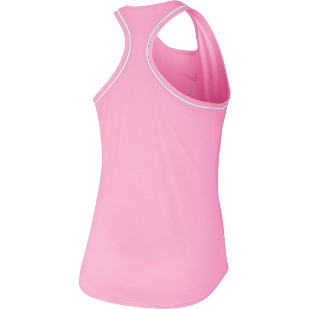 Теннисная майка женская Nike Court Dry Tank pink rise/white
