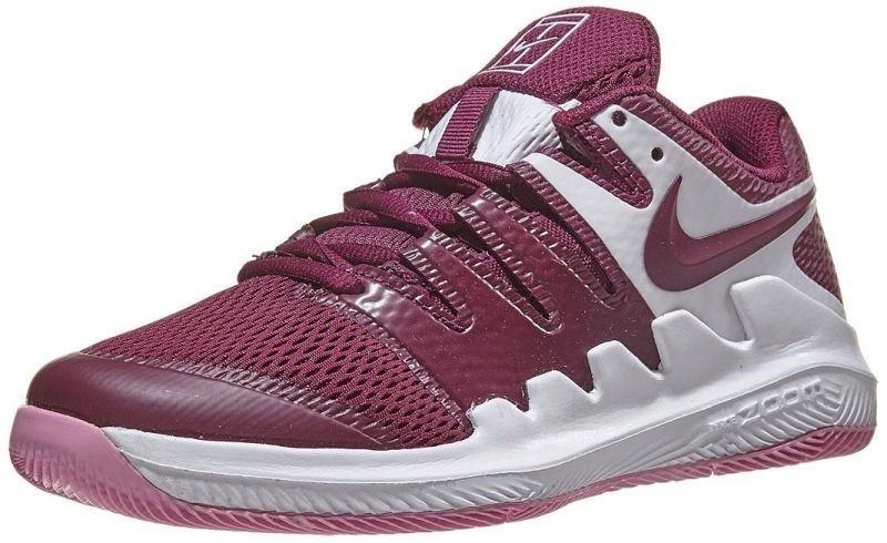 Детские теннисные кроссовки Nike Air Zoom Vapor 10 HC Jr white/bordeaux/pink rise