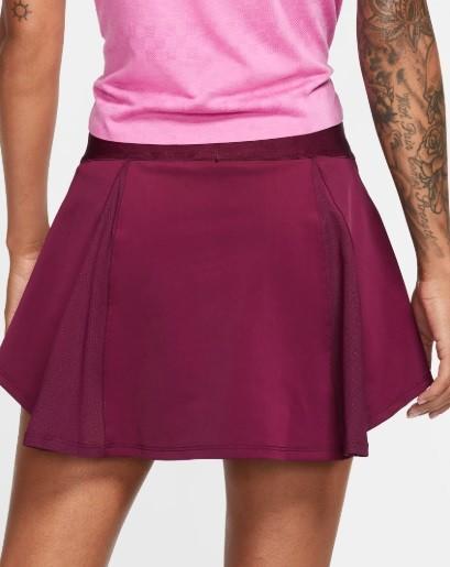 Теннисная юбка женская Nike Court Elevated Flouncy Skirt bordeaux/white