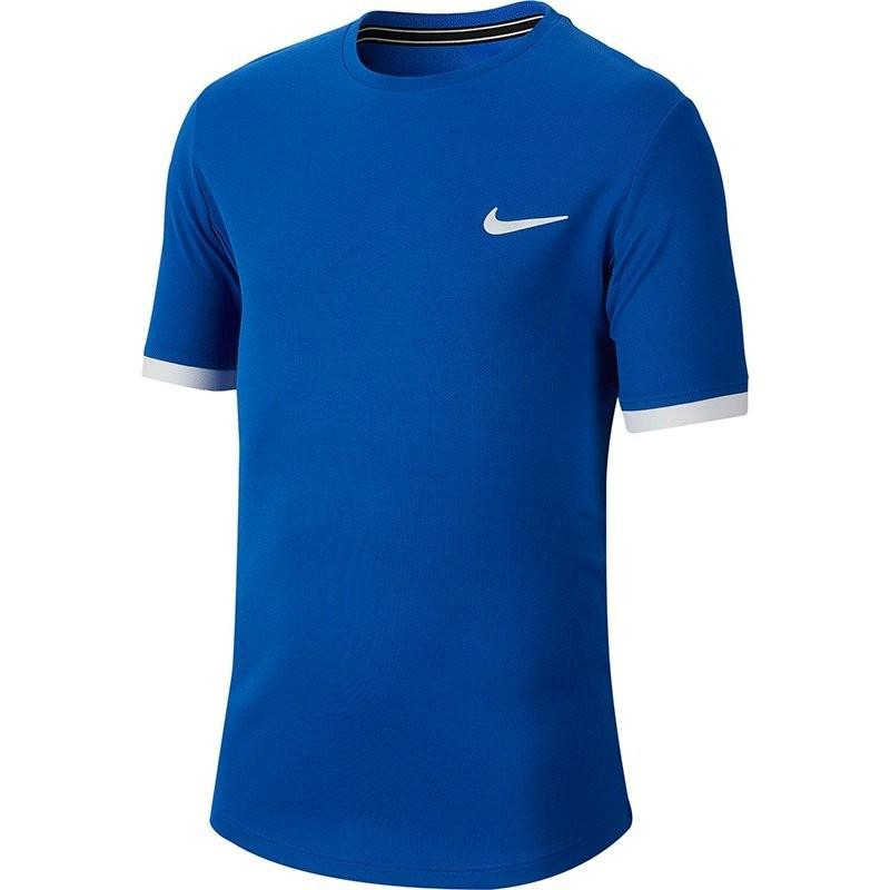 Теннисная футболка детская Nike Court Dry Top SS Boys game royal/white