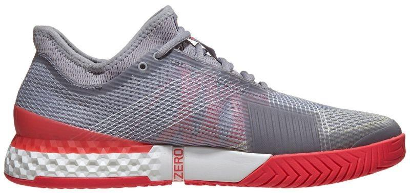 Теннисные кроссовки мужские Adidas Adizero Ubersonic 3 light granite/white/shock red