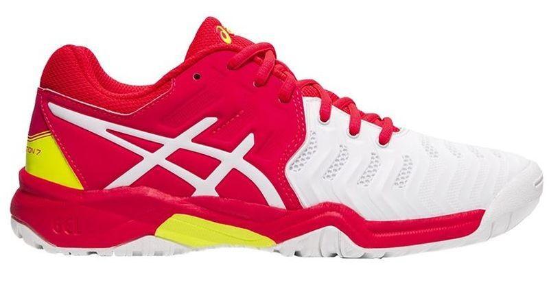 Детские теннисные кроссовки Asics Gel-Resolution 7 GS white/laser pink