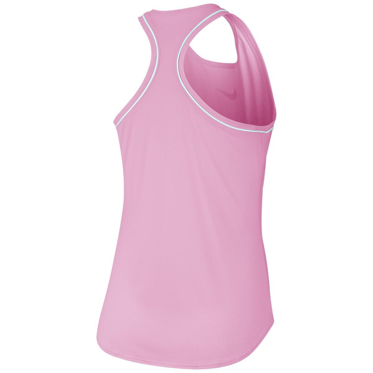 Теннисная майка детская Nike Court Girls Dry Tank pink rise/white