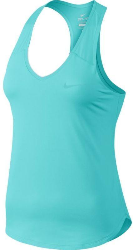 Теннисная майка женская Nike Pure Tank light aqua/light aqua