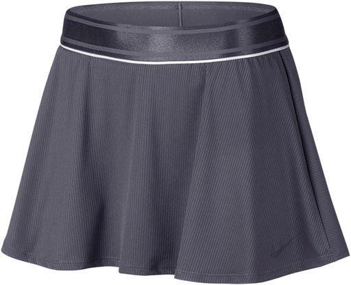 Теннисная юбка женская Nike Court Dry Flounce Skirt gridiron/white/gridiron